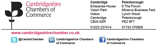 ASL becomes a member of the Cambridgeshire Chamber of Commerce