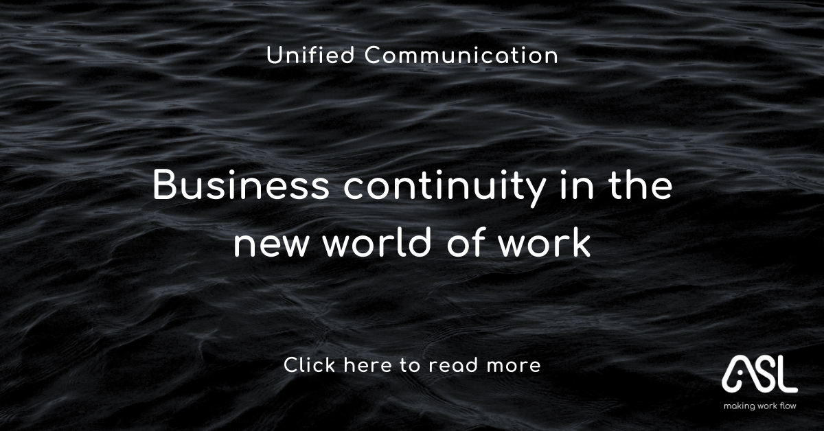 Business continuity in the new world of work