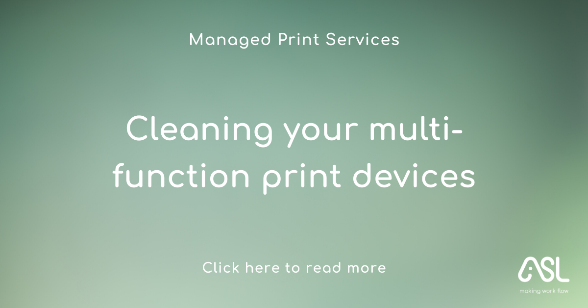 Cleaning your multi-function print devices