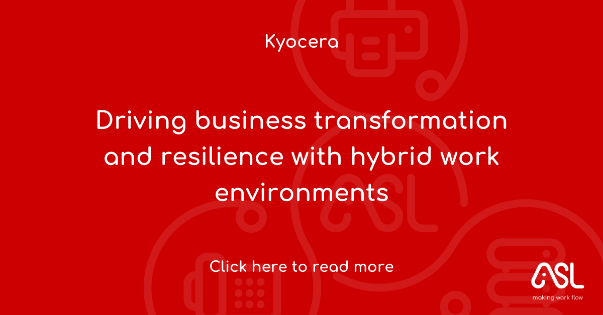 Driving business transformation and resilience with hybrid work environments