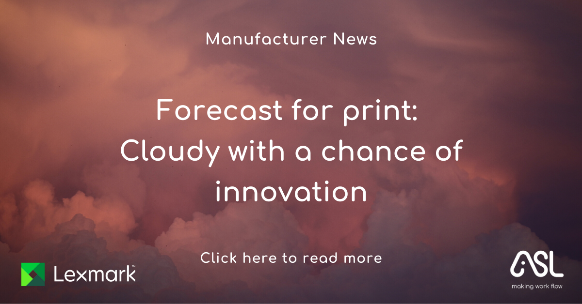 Forecast for print Cloudy with a chance of innovation