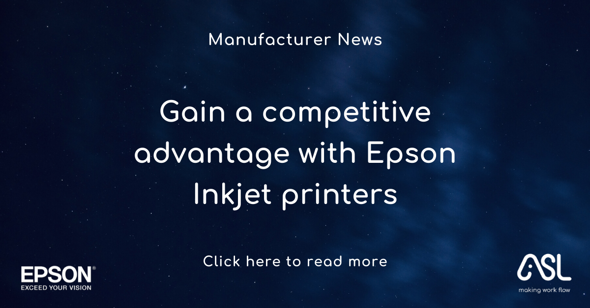 Gain a competitive advantage with Epson Inkjet printers