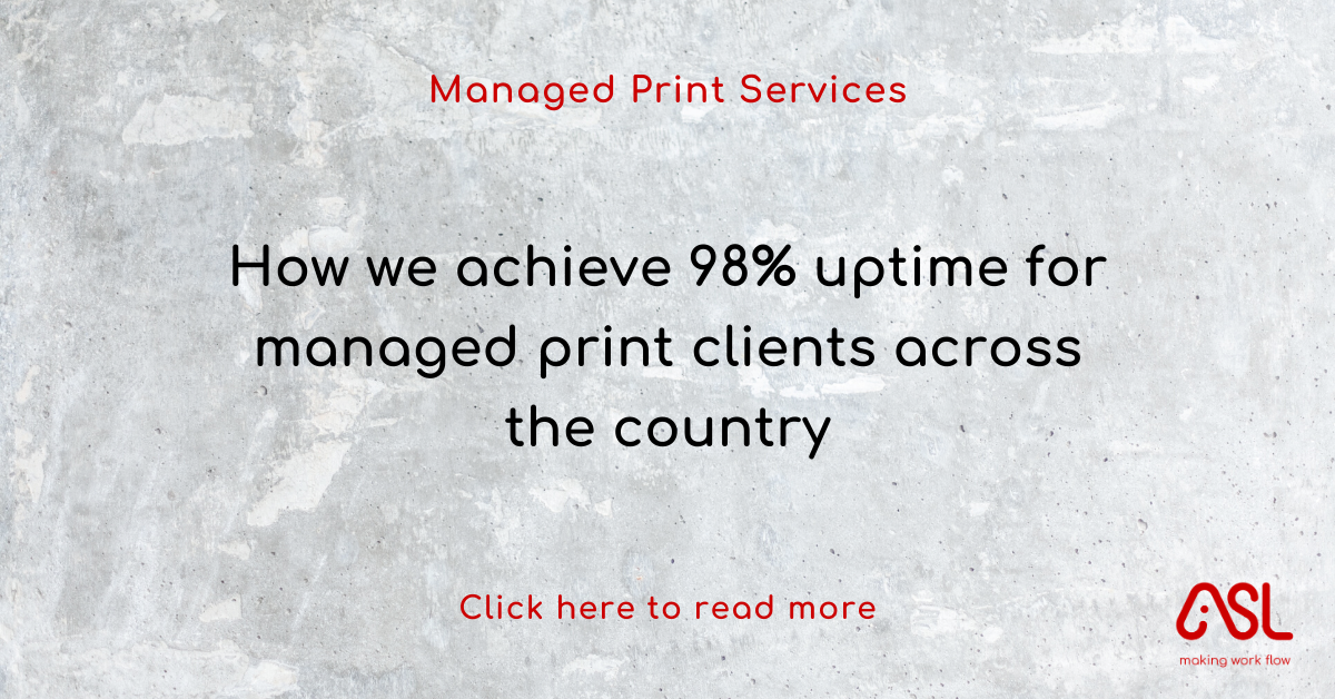 How we achieve 98% uptime for managed print clients across the country