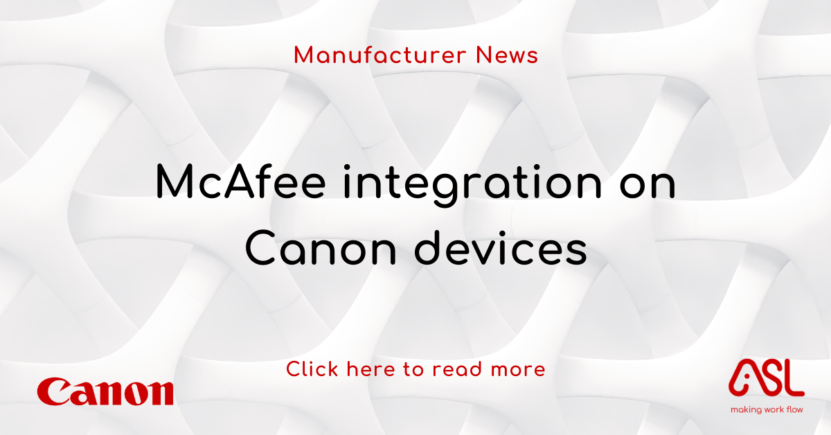 McAfee integration on Canon devices