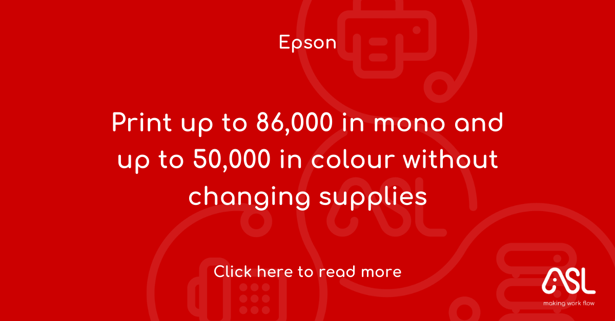 Print up to 86,000 in mono and up to 50,000 in colour without changing supplies