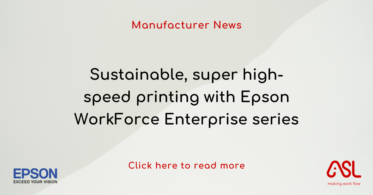 Sustainable, super high-speed printing with Epson WorkForce Enterprise series